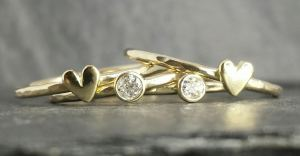 Re-used old cut diamonds & precious metal