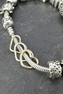 jumped ship to hijack a Pandora bracelet - don't they fit in well!