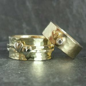 ...recycled white/yellow 9ct gold & diamond
